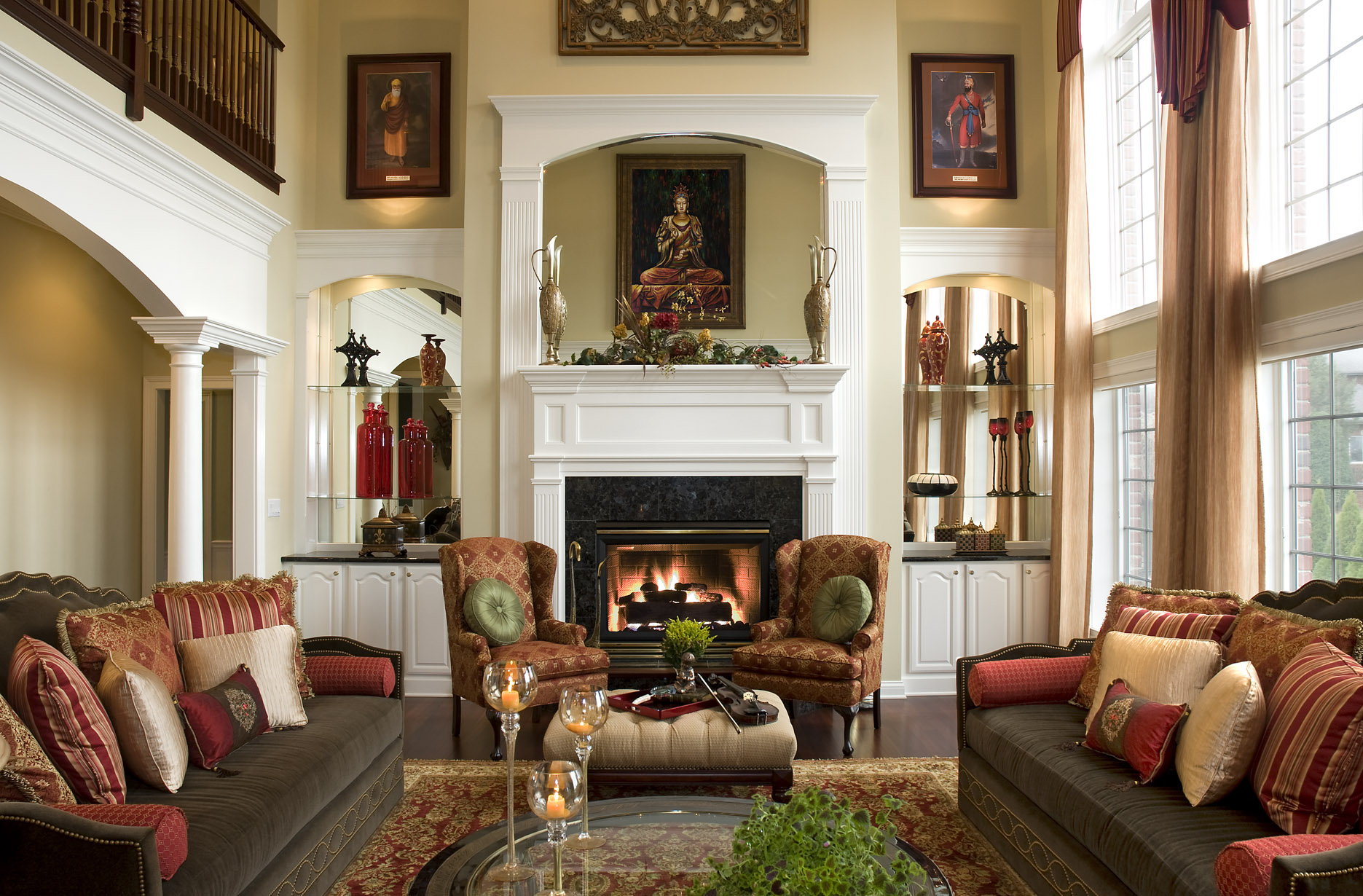 Comfortable Den Furniture 7 Steps To A Beautiful Living Room Northside Decorating