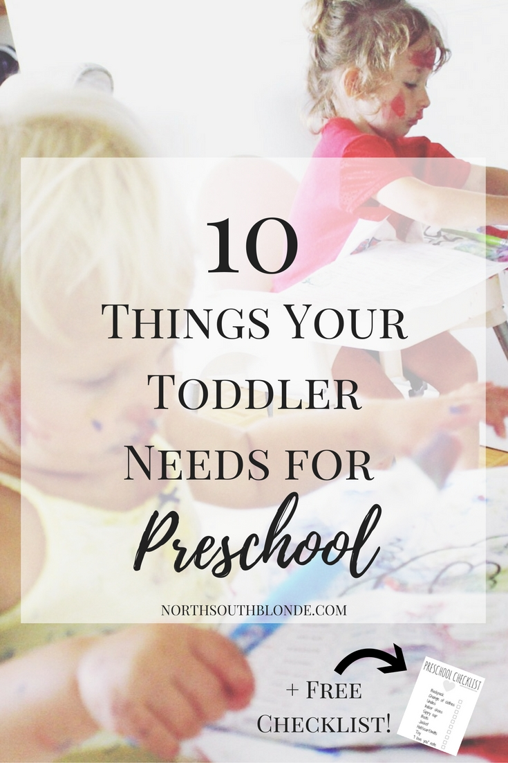 10 Things Your Toddler Needs for Preschool + Free Checklist