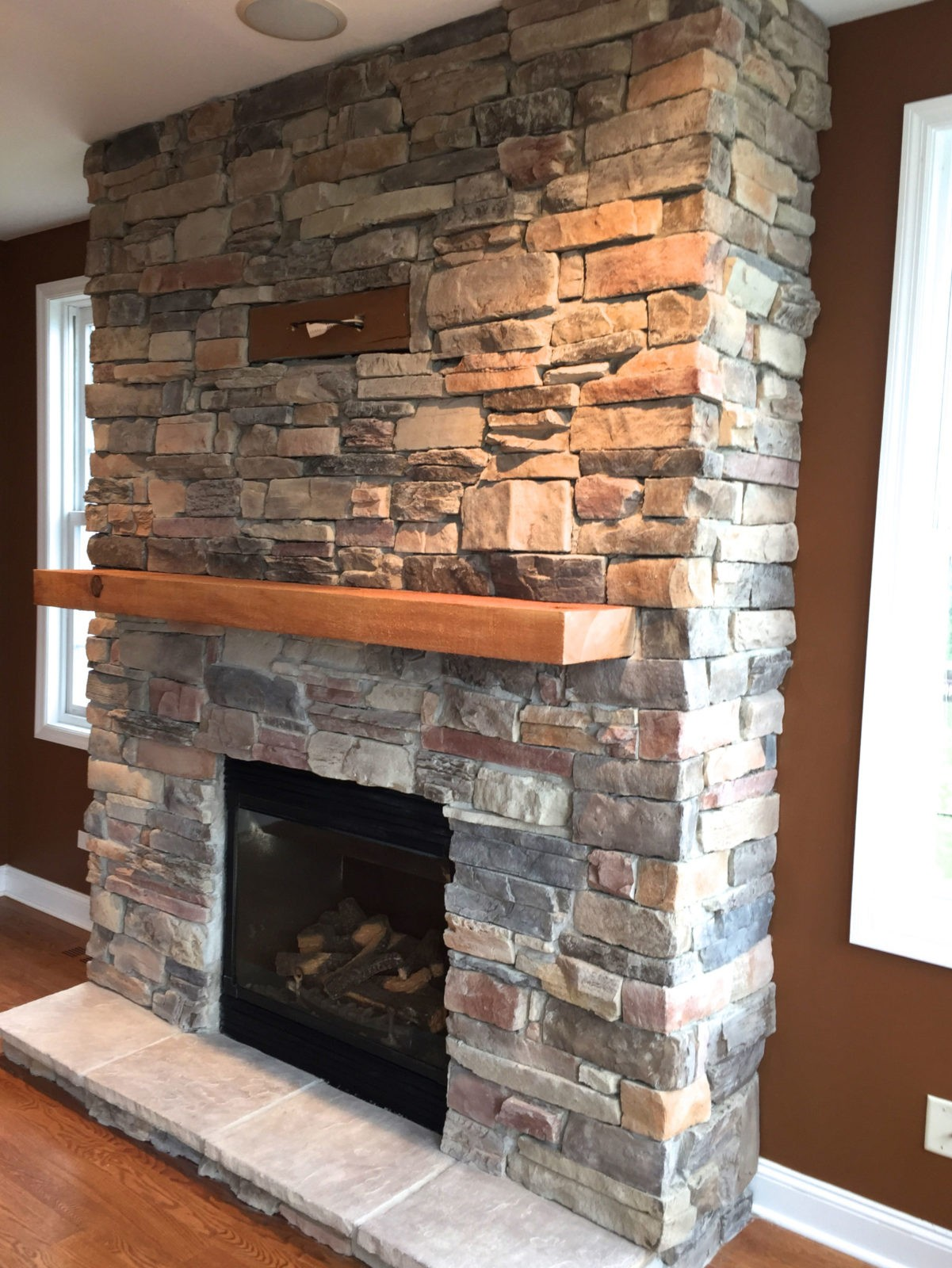 Installing Cultured Stone Fireplace How To Easily Clean Stone Veneer North Star Stone