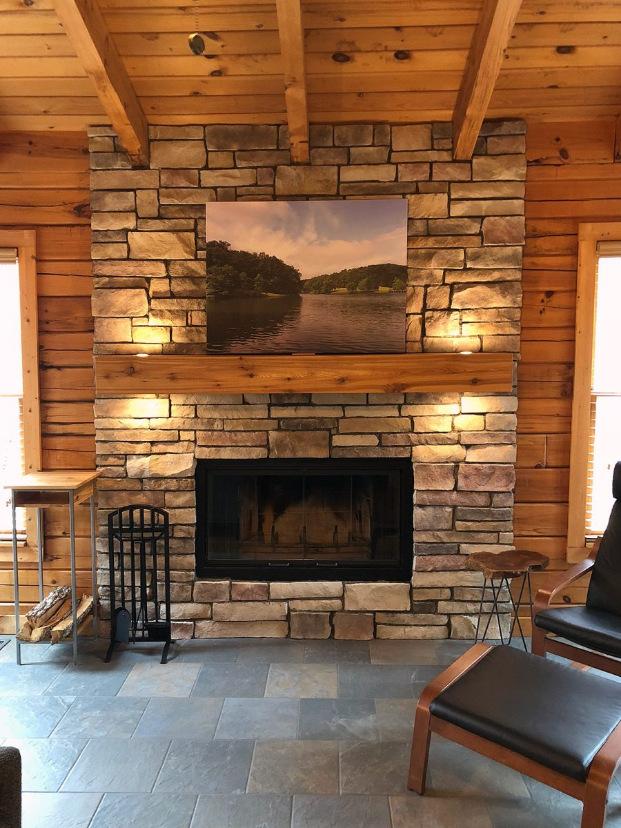 Installing Cultured Stone Fireplace My Diy Stone Veneer Fireplace Project North Star Stone