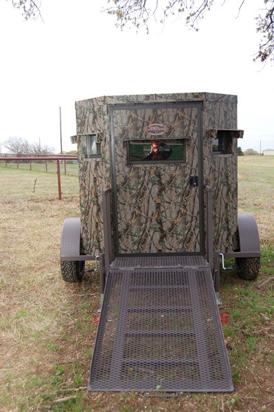 Blinds.com Reviews Trailer Deer Blinds - Wheelchair Accessible Deer Blind
