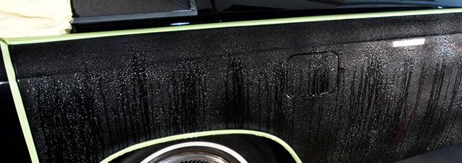 Wet sanding exterior paint correction