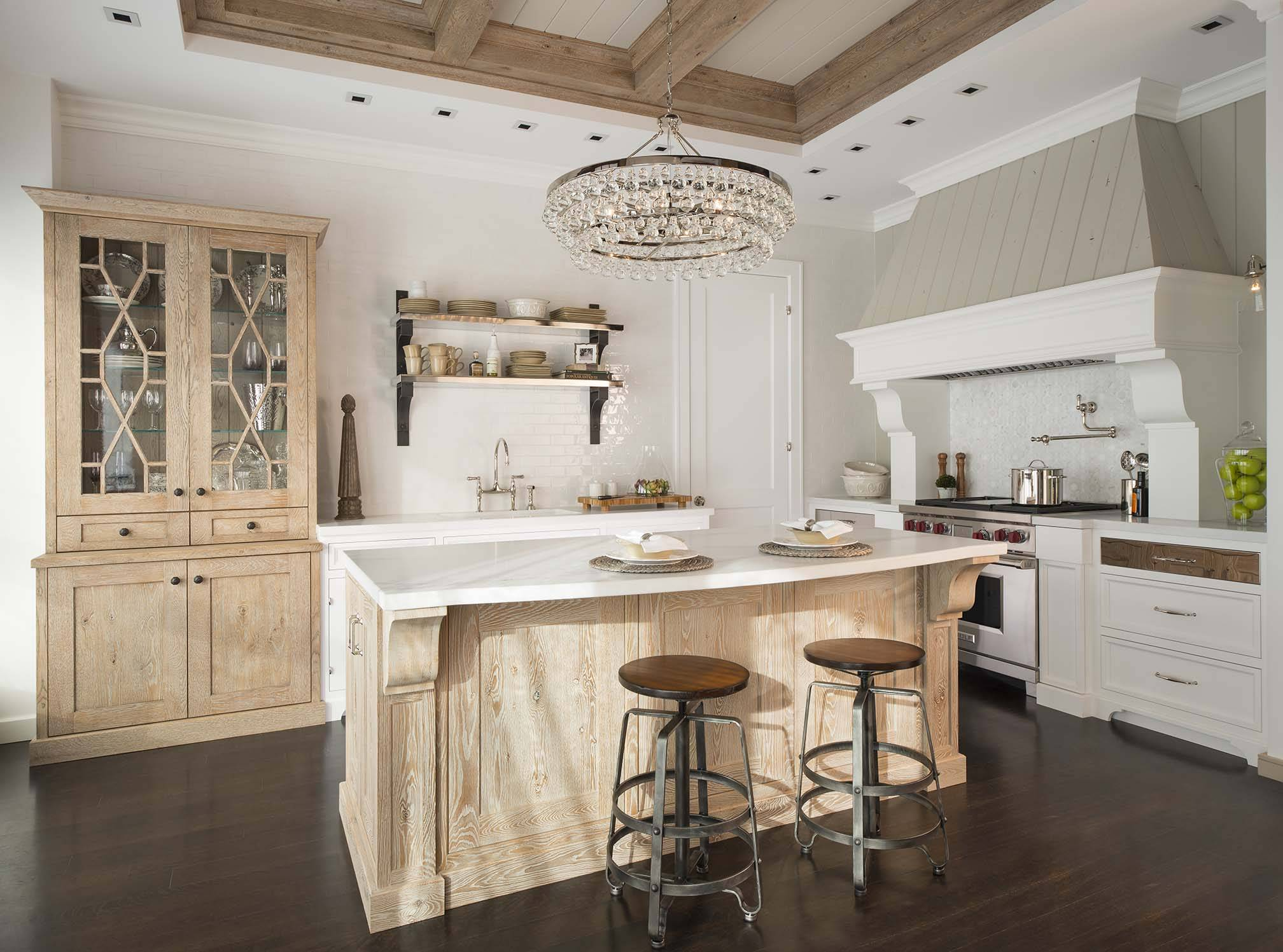 Kitchen Cabinets Red Oak Floors Revitalizing Red Oak With Cerused Finishing North American