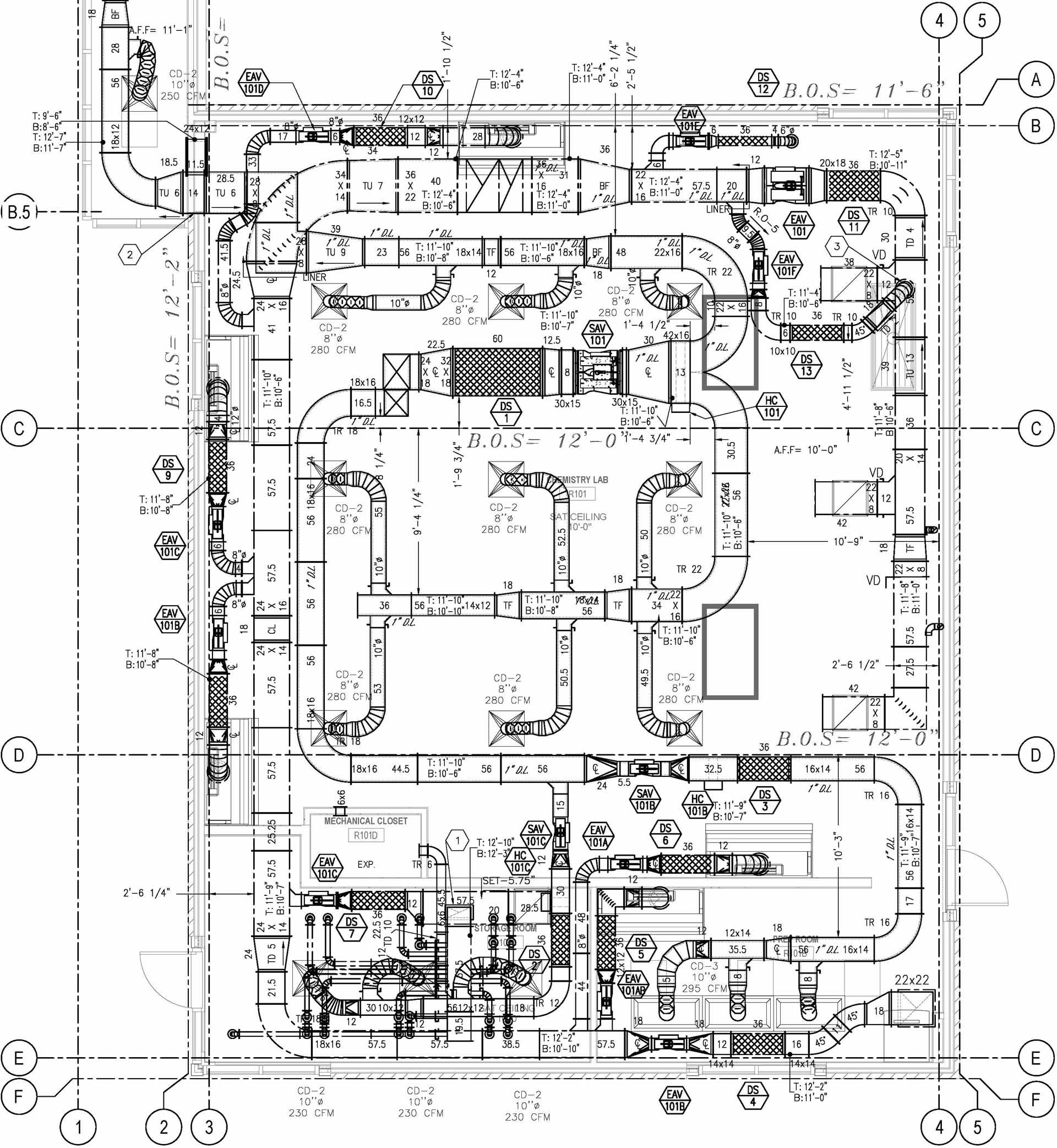 sample hvac cad drawings