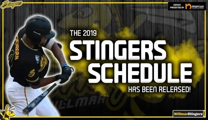 Stingers season schedule announced for the 2019 season - Willmar