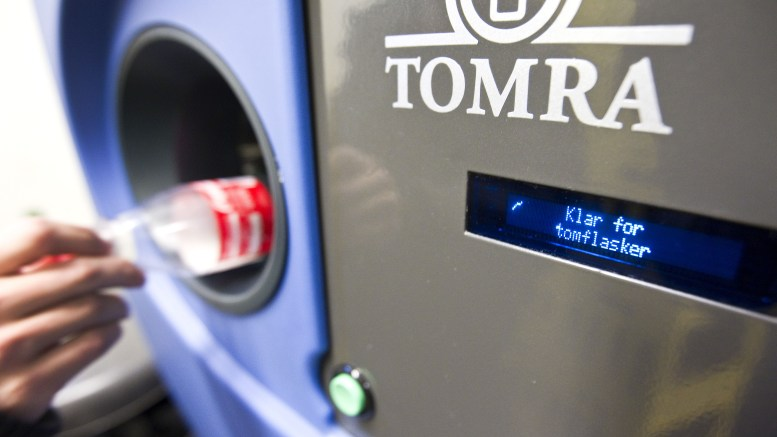 tomra bottle machine