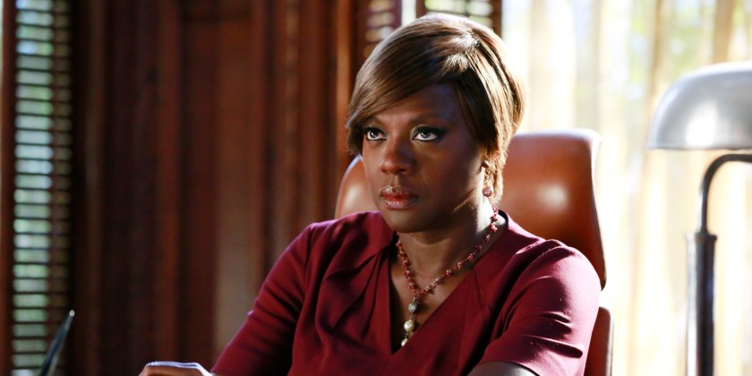 "HOW TO GET AWAY WITH MURDER - ""We're Not Friends"" - Annalise takes on a tough case defending a minor who fatally shoots his police officer father. Meanwhile, Annalise and Sam continue to argue over his relationship with Lila, and Wes and Rebecca begin to question Annalise's motives. In flash-forwards, we learn more about Laurel's relationship with Frank and why he was calling her the night of Sam's death, on ""How to Get Away with Murder,"" THURSDAY OCTOBER 23 (10:00-11:00 p.m., ET) on the ABC Television Network. (Mitchell Haaseth/ABC via Getty Images) VIOLA DAVIS"