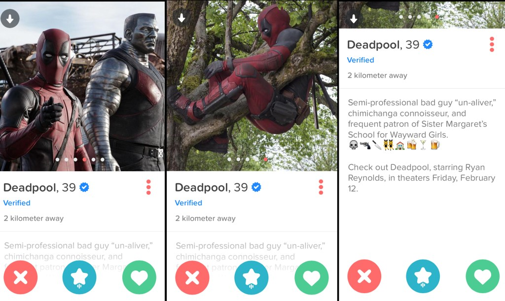 Deadpool Tinder 2