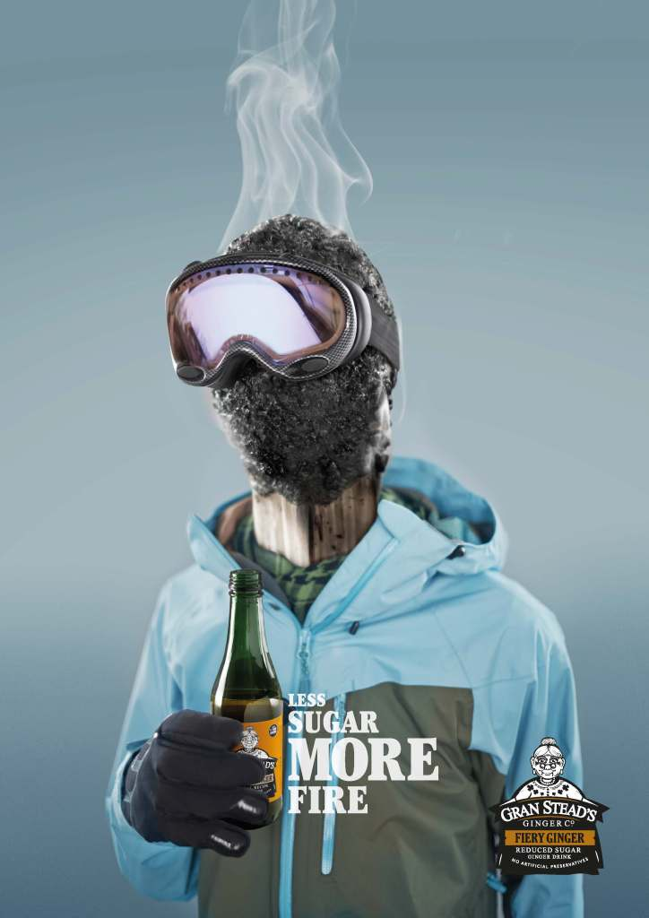 Gran Steads Fiery Ginger - Hot Head Snowboarder