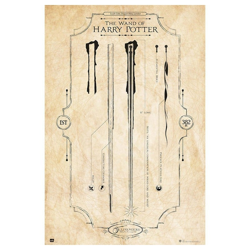 Wand Poster Poster Harry Potter The Wand - Nosoloposters.com