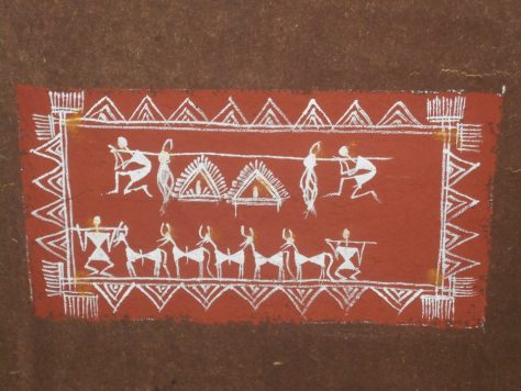 The tribal warli art found in the house