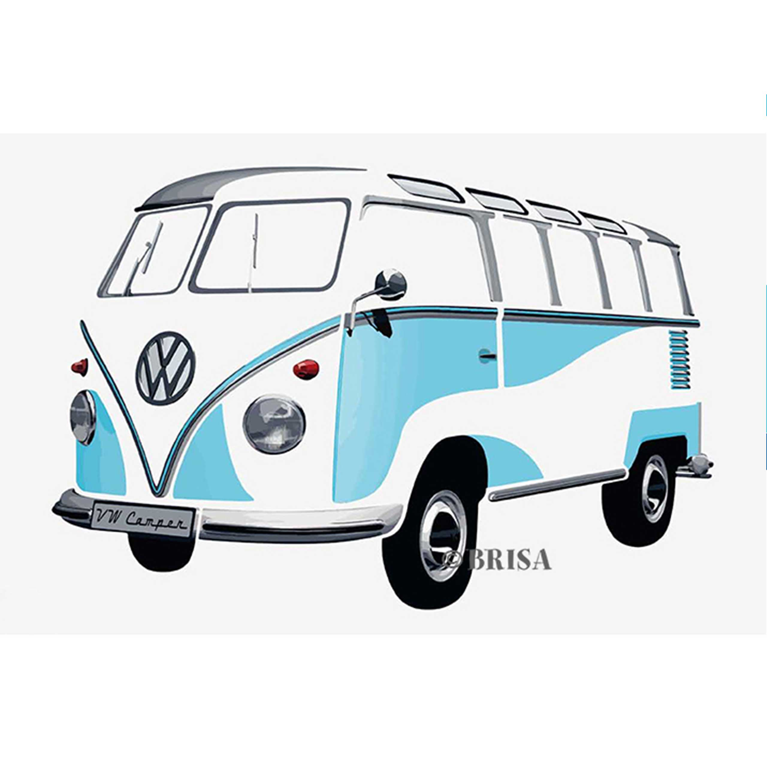 Bettwäsche Bulli Vw Bus Wandsticker Quott1 Bulli Quot Türkis