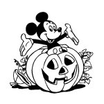 Coloriage héros Halloween Mickey