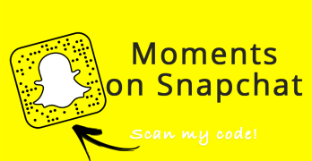 Add me on Snapchat by scanning that code or clicking here