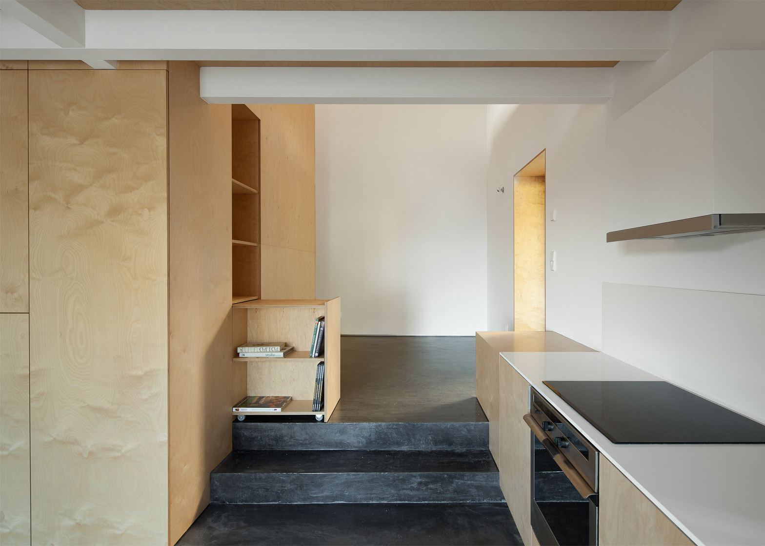 Apartment Renovation Ideas Birch Plywood Was Used To This Limited Budget Renovation