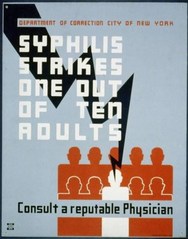 Syphilis Strikes Poster