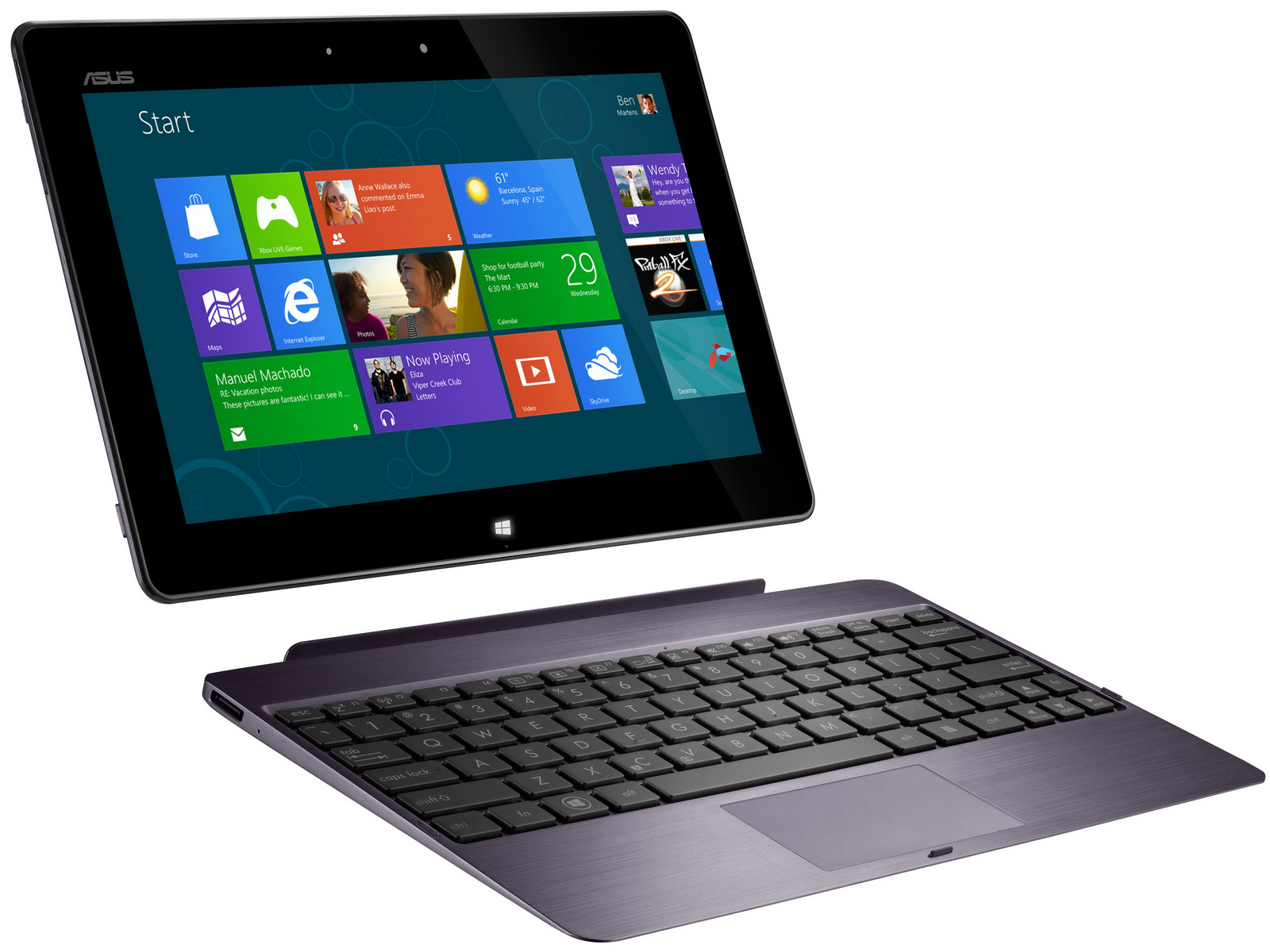 Laptop Tablett Windows 8 Tablets Asus 600 Und Asus 810 Im Detail