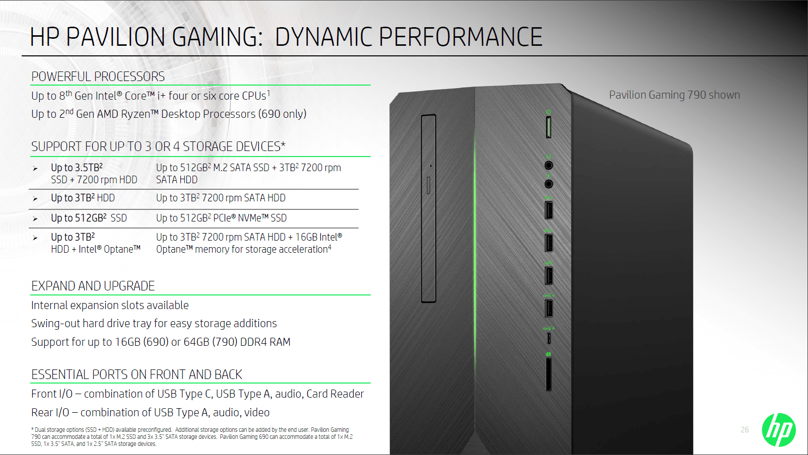 Spec Gaming Hp Pavilion Gaming Desktops Are Here With New Intel