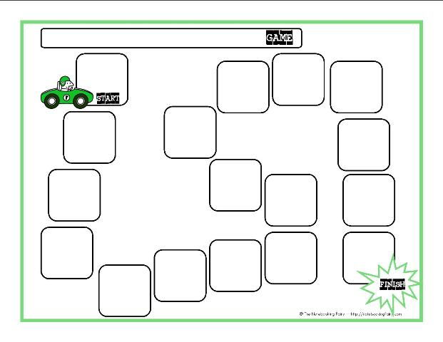Game Board Templates \u2013 Notebooking Fairy
