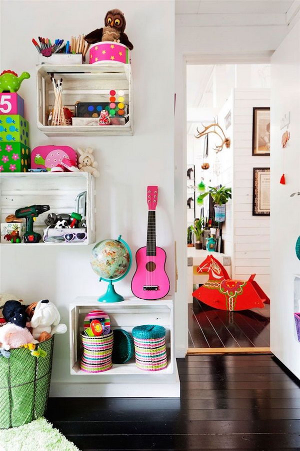 Rolling Rack 25 Creative Diy Storage Ideas To Organize Kids' Room