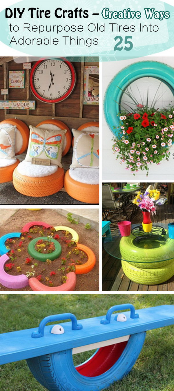 25 Diy Tire Crafts Creative Ways To Repurpose Old Tires Into Adorable Things Noted List