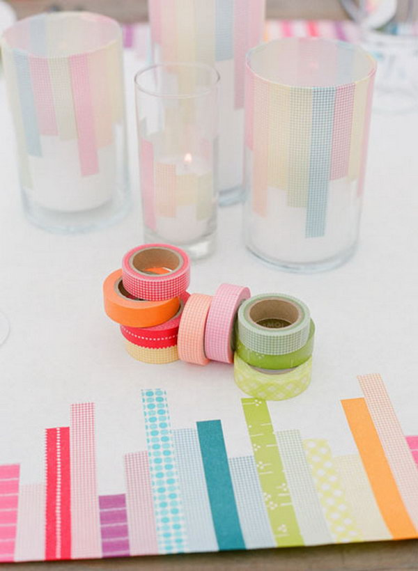 Ikea Glass Cups Creative Diy Washi Tape Decorating Ideas - Noted List