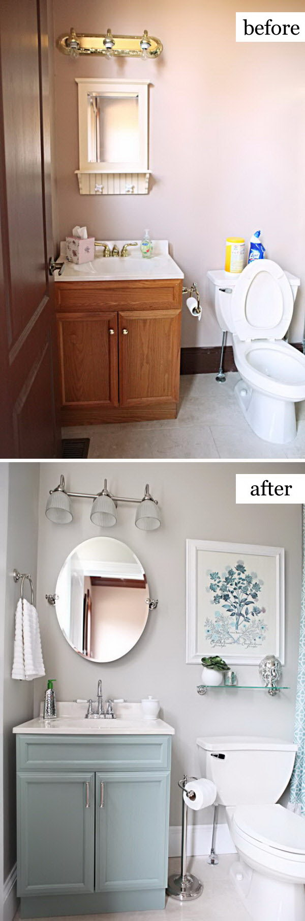 Before and After Makeovers: 20+ Most Beautiful Bathroom