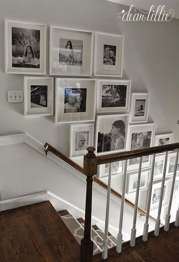 Ribba Frame Black Chic Ways To Decorate Your Staircase Wall - Noted List