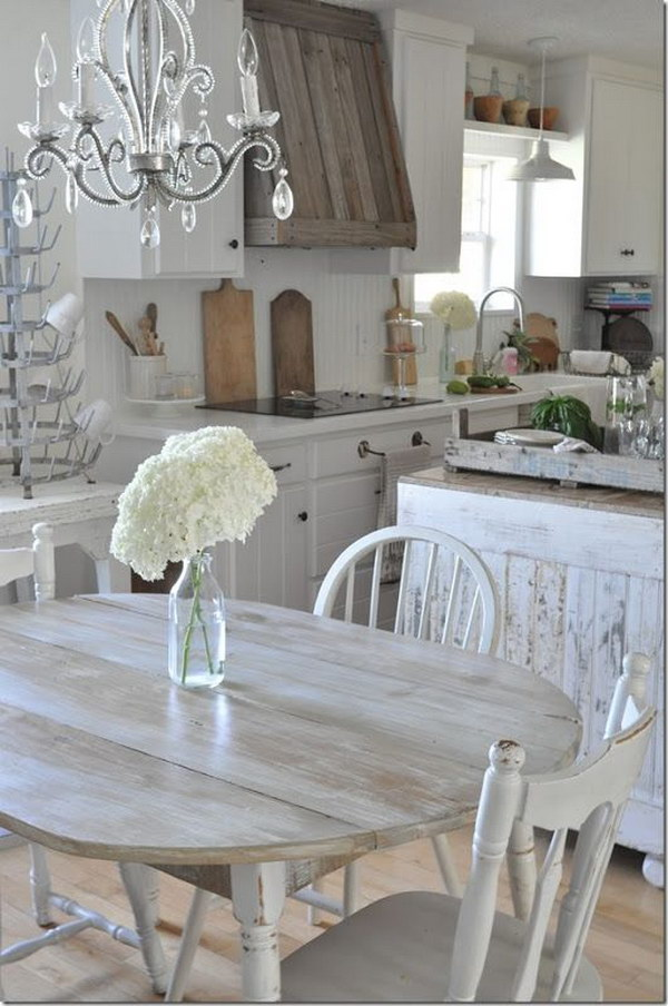 Kitchen Cabinet Island Design Awesome Shabby Chic Kitchen Designs - Noted List