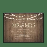 Rustic String Lights Wedding Rehearsal Dinner Invite