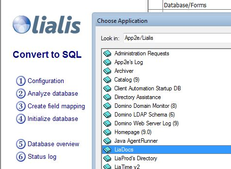 Convert Notes Database to SQL -
