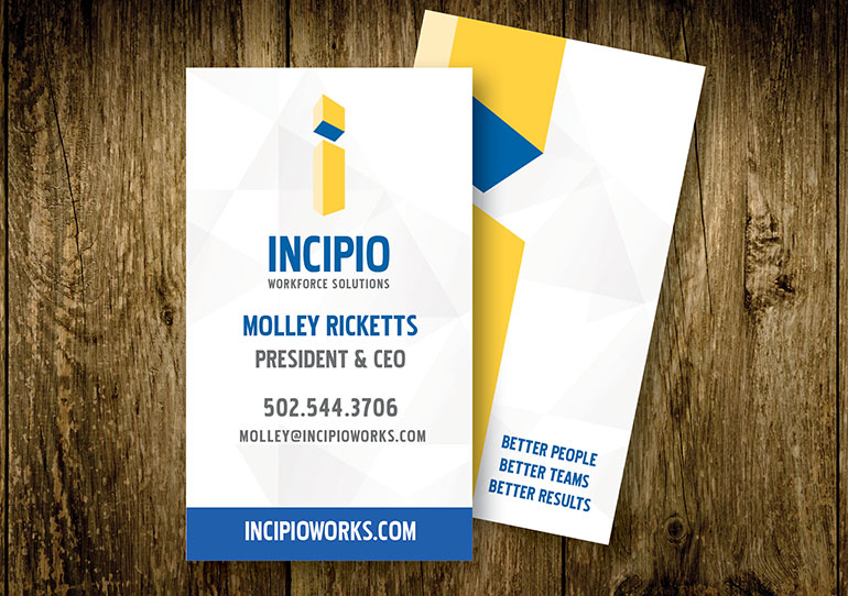 Noteworthy Creative Group Incipio Vertical Business Card