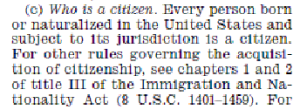 Who is a citizen? The IRS uses the same definition of the 14th Amendment.