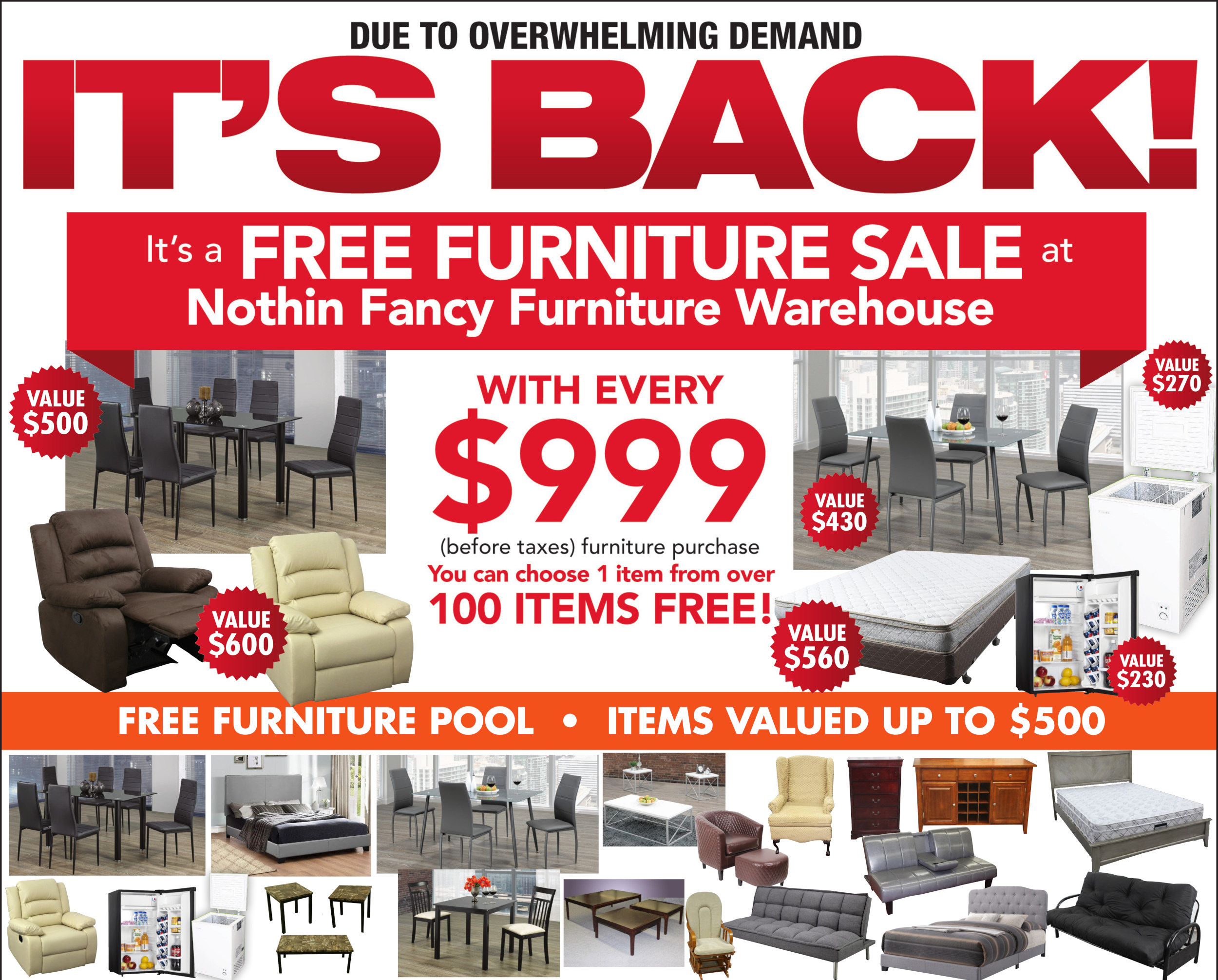 Meubles Furniture Warehouse Nothin Fancy Furniture Warehouse Factory Direct Discounts
