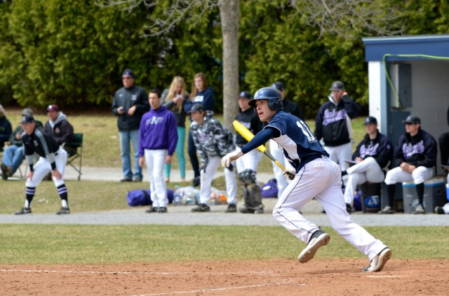 Alex Kelly '14 was among the few bright spots for Middlebury against the Amherst staff, going 6-13 in his last NESCAC series atop the Panthers' lineup. Courtesy of Rachel Frank