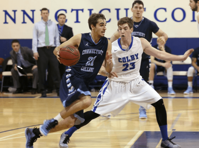 Lee Messier '18 was one of several freshmen to play heavy minutes this season. (Courtesy of Conn College Athletics)