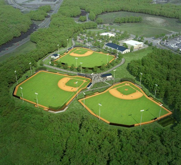 The new New England Baseball Complex allowed for Tufts and Bowdoin to play this weekend. (Courtesy of Masslive.com)