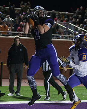 #2 Jackson McGonagle '16 is hoping the Amherst passing attack can break out this year. (Courtesy of Amherst Athletics)