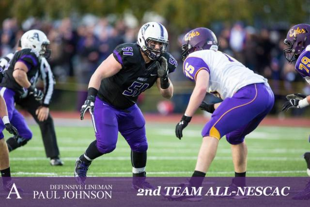 DT Paul Johnson (Courtesy of @AmherstCollFB)
