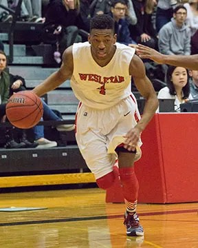 PG BJ Davis '16 is driving the Cardinals on their current revival tour. (Courtesy of Wesleyan Athletics)