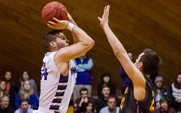 Connor Green '16 played like a superstar with 29 points in Amherst's Quarterfinal victory on Saturday. (Courtesy of NESCAC.com)
