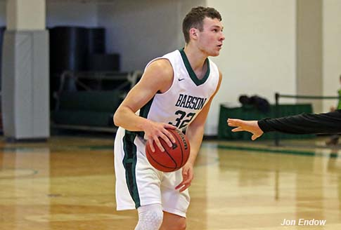 Joey Flannery '17 was a D3Hoops.com Preseason First Team All-American, and his 24.2 ppg this year ranks 11th in the nation. (Courtesy of Jon Endow/Babson Athletics)