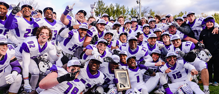 Will the reigning champs feel the losses of some of their stars? Or will they be posing for another picture like this come November? (Courtesy of Clarus Studios, Inc; Amherst Athletics).