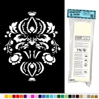 Damask Pattern Fancy Elegant - Vinyl Sticker Decal Wall ...