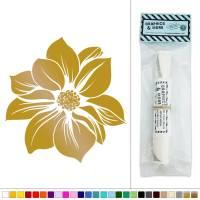 Fancy Flower in Bloom Vinyl Sticker Decal Wall Art Dcor ...