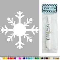 Snowflake Large Winter Symbol Vinyl Sticker Decal Wall Art ...