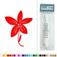 Flower on Stem Vinyl Sticker Decal Wall Art Dcor | eBay