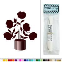 Flowers Potted Plant Art Deco Vinyl Sticker Decal Wall Art ...