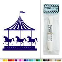Carousel Horses Vintage Carnival Ride Vinyl Sticker Decal ...