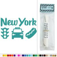 New York Taxi Traffic Light Hot Dog USA Vinyl Sticker ...